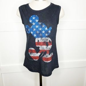 Disney Mickey Mouse America Burnout Tank Top Small